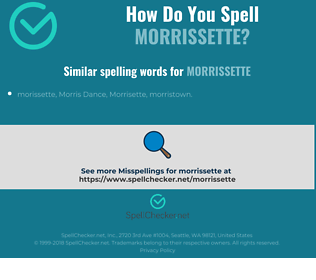 Correct spelling for morrissette