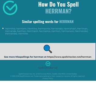 Correct spelling for herrman
