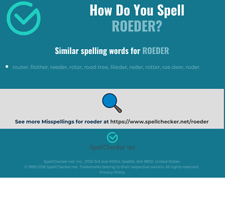 Correct spelling for roeder