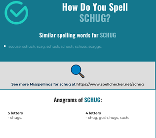 Correct spelling for schug