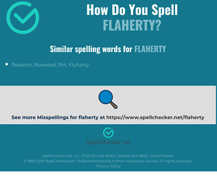 Correct spelling for flaherty