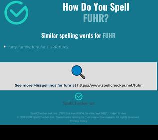 Correct spelling for fuhr