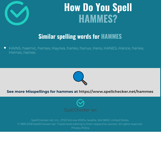 Correct spelling for hammes