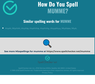 Correct spelling for mumme