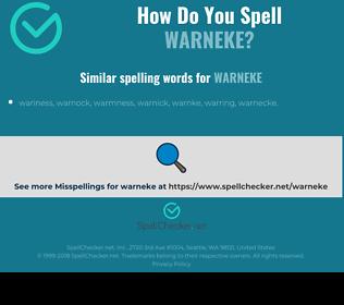Correct spelling for warneke