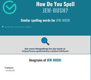 Correct spelling for jew-bush