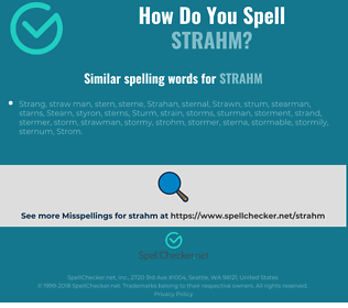 Correct spelling for strahm