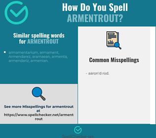 Correct spelling for armentrout