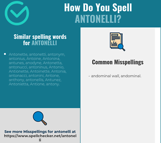 Correct spelling for antonelli