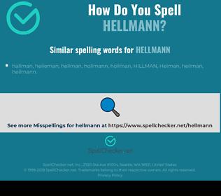Correct spelling for hellmann