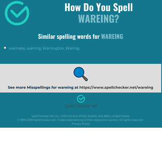 Correct spelling for wareing