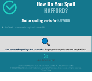 Correct spelling for hafford