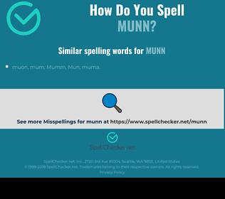 Correct spelling for munn