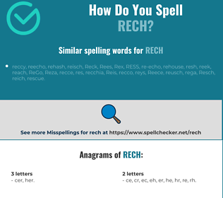 Correct spelling for RECH