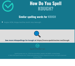 Correct spelling for Kough