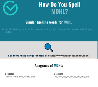 Correct spelling for Mohl