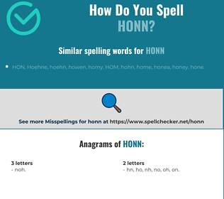 Correct spelling for Honn
