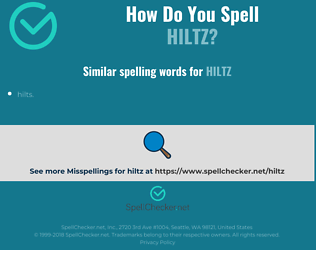 Correct spelling for Hiltz