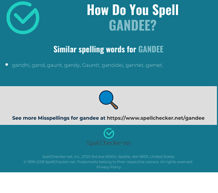 Correct spelling for gandee