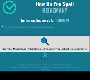 Correct spelling for heinzman