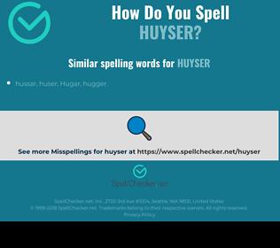 Correct spelling for Huyser