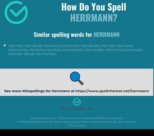 Correct spelling for Herrmann