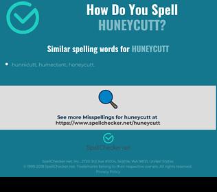 Correct spelling for Huneycutt
