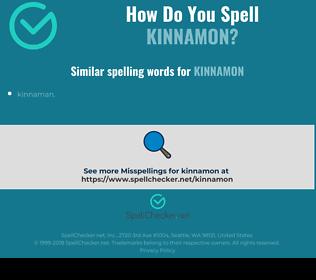Correct spelling for Kinnamon