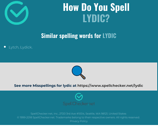 Correct spelling for lydic