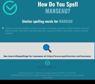 Correct spelling for manseau