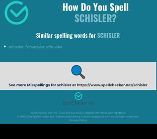 Correct spelling for schisler