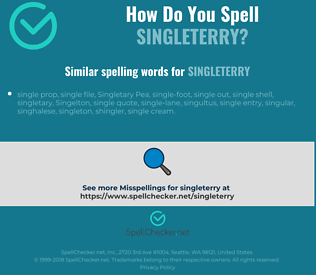 Correct spelling for Singleterry