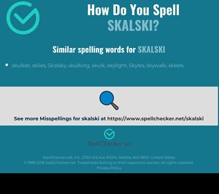 Correct spelling for skalski