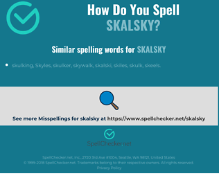 Correct spelling for Skalsky