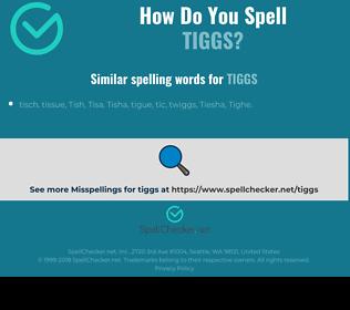 Correct spelling for tiggs