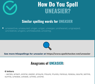 Correct spelling for uneasier
