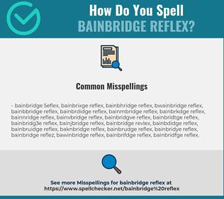 Correct spelling for Bainbridge reflex