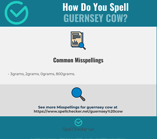 Correct spelling for Guernsey cow