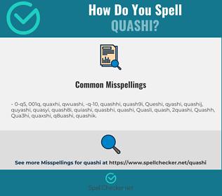 Correct spelling for Quashi