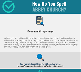 Correct spelling for abbey church