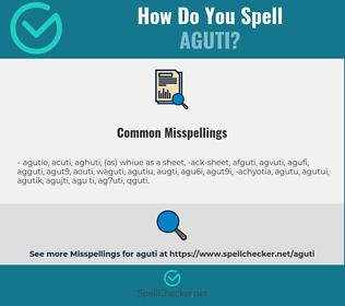 Correct spelling for aguti