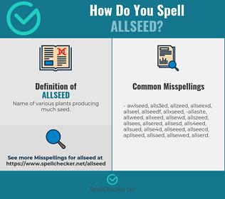 Correct spelling for allseed