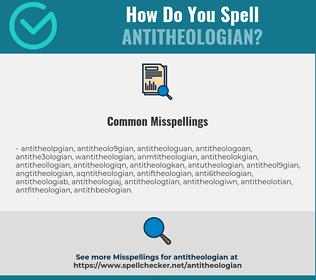Correct spelling for antitheologian