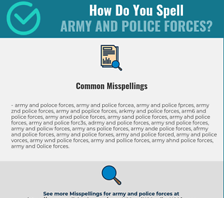 Correct spelling for army and police forces