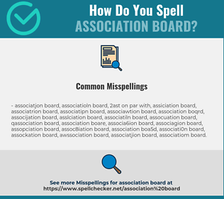 Correct spelling for association board