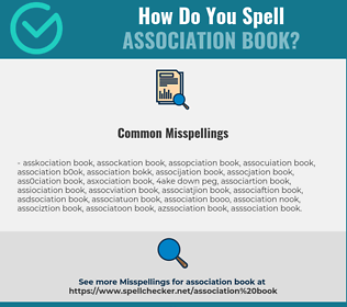 Correct spelling for association book