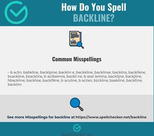 Correct spelling for backline