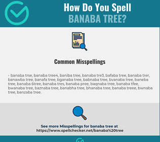 Correct spelling for banaba tree