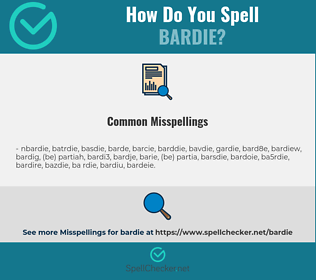 Correct spelling for bardie
