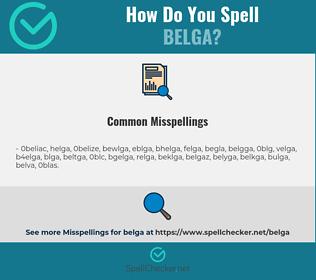 Correct spelling for belga